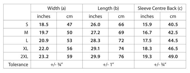 Dagat Father Size Chart